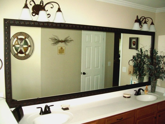 Cobb County Mirrors, Frame for mirrors stuck to walls in Cobb County, Frame Existing Mirrors Cobb County Georgia, How to frame mirrors already stuck to walls in Cobb County GA, Pictures Plus Incorporated, (678) 468-0506